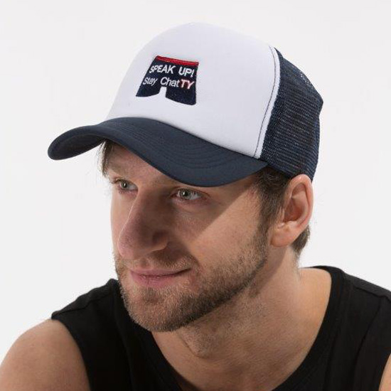 Logo Trucker Cap Navy - SPEAK UP! Stay ChatTY 56cb19170f9